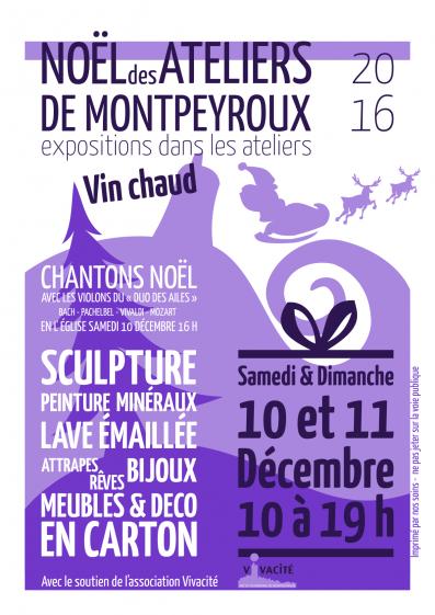 Affiche Noël des ateliers à Montpeyroux