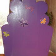 Fauteuil papillons pour enfant (dos)