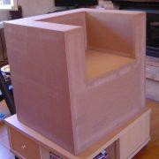 Fauteuil en carton (brut)