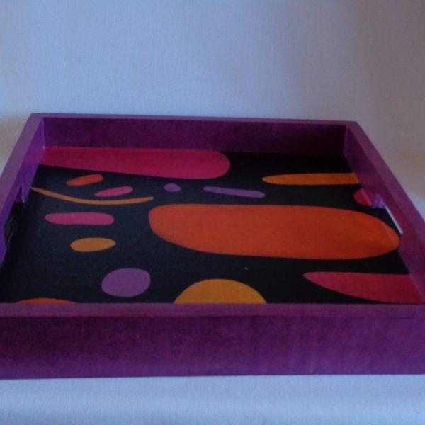 Plateau carré violet pop