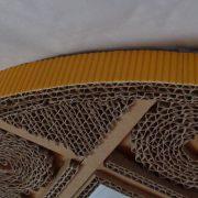 Miroir rond en dentelle de carton jaune