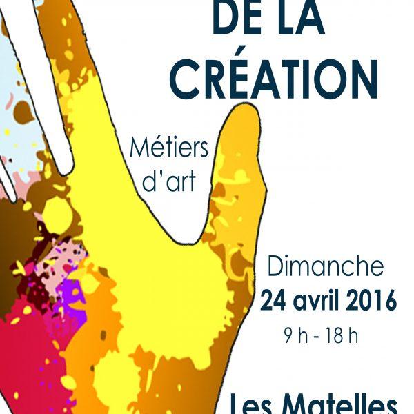 Affiche Marché de la création des Matelles 2016
