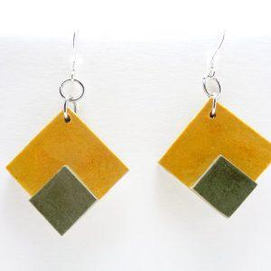 BO double jaune/vert olive